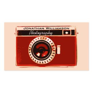 Rétros cartes de visite rouges de photographie d a modèle de carte de visite