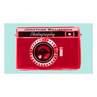 Rétros cartes de visite rouges de photographie d'a modèle de carte de visite