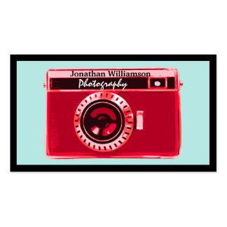 Rétros cartes de visite rouges de photographie d'a carte de visite standard