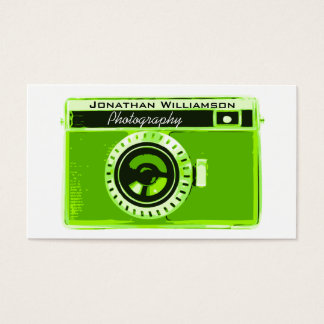 Rétros cartes de visite verts de photographie