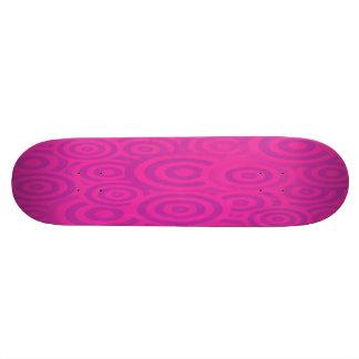Rétros cercles roses et pourpres géniaux mini skateboard 18,7 cm