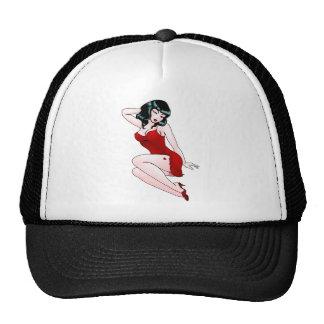 Rétros chapeaux de pin-up de fille de Pin- de les  Casquettes