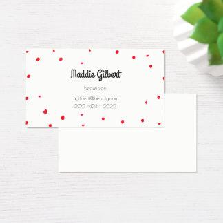 rétros confettis - pétales rouges cartes de visite