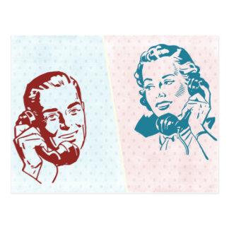 Rétros couples carte postale