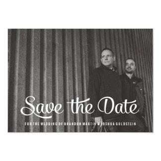 Rétros économies gaies le carte photo de date carton d'invitation  12,7 cm x 17,78 cm