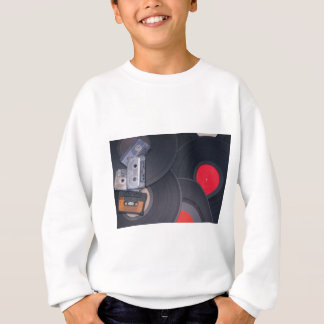 rétros enregistreurs à cassettes et disques vinyle sweatshirt