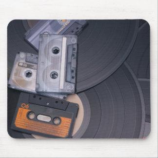 rétros enregistreurs à cassettes et disques vinyle tapis de souris