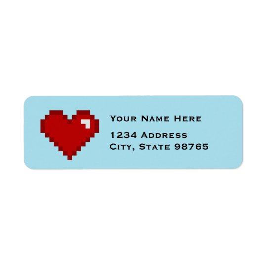 Rétros étiquettes de adresse de coeur du Gamer