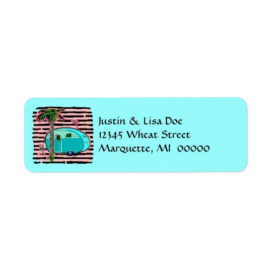 Rétros étiquettes de adresse vintages en boîte de