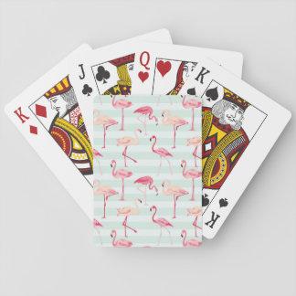 Rétros flamants sur les rayures en bon état jeu de cartes
