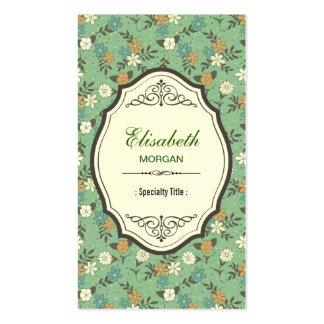 Rétros fleurs vintages avec le cadre vintage carte de visite standard