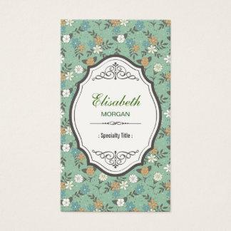 Rétros fleurs vintages avec le cadre vintage cartes de visite