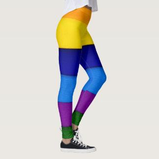 Rétros guêtres uniques colorées de réchauffeurs de leggings