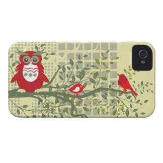rétros hiboux et oiseaux sur la caisse audacieuse  coques iPhone 4