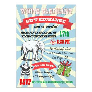Rétros invitations de fête de Noël d'objet
