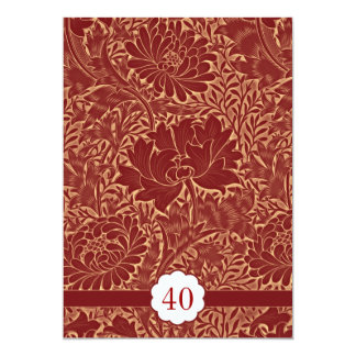 rétros invitations élégantes rouges d'anniversaire