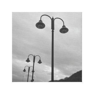Rétros lampadaires noirs et 4Mauree blanc Toiles
