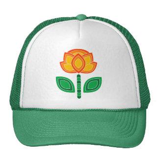 Rétros les années 70 casquettes de fleur