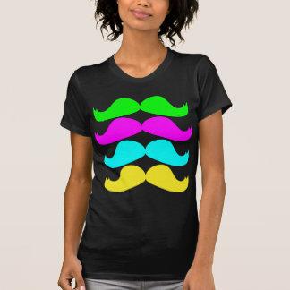 Rétros moustaches de RVB Fluo T-shirts