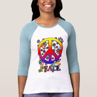 Rétros oiseaux et fleurs modernes des textes de si t-shirt