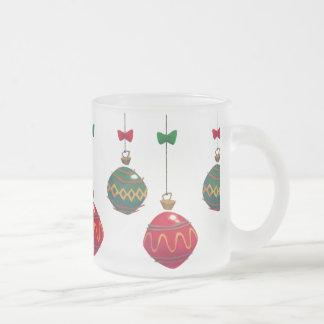 Rétros ornements de Noël Mug En Verre Givré