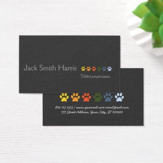 Rétros pattes élégantes modernes d'animaux cartes de visite
