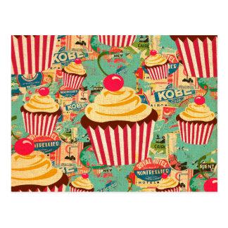 Rétros petits gâteaux de cirque carte postale