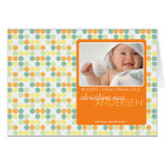 Rétros points oranges • Faire-part de bébé Cartes De Vœux