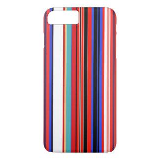 Rétros rayures rouges coque iPhone 8 plus/7 plus