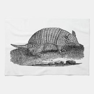 Rétros tatous d'antiquité de tatou de 1800s serviettes éponge