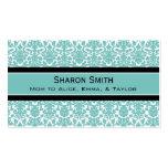 Rétros télécartes de maman de damassé noire turquo carte de visite