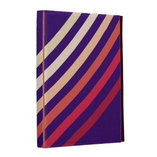 Rétros vagues pourpres de neutre au rouge coques iPad folio