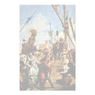 Réunion de Marc Antony et de Cléopâtre Papier À Lettre Personnalisable
