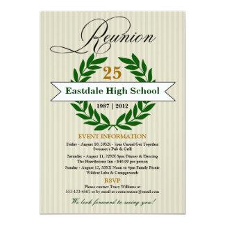 Réunion scolaire élevée élégante formelle carton d'invitation  12,7 cm x 17,78 cm