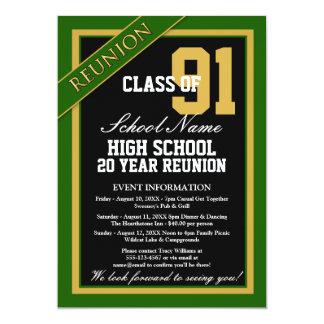 Réunion scolaire élevée formelle chique carton d'invitation  12,7 cm x 17,78 cm