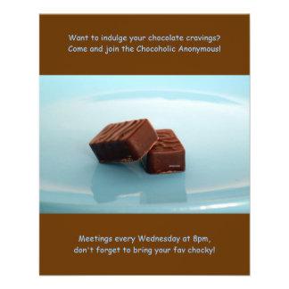 Réunions anonymes d'accros du chocolat prospectus 11,4 cm x 14,2 cm
