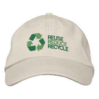 Réutilisez la conscience d'environnement casquette brodée