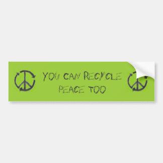 Réutilisez la paix, adhésif pour pare-chocs autocollant pour voiture
