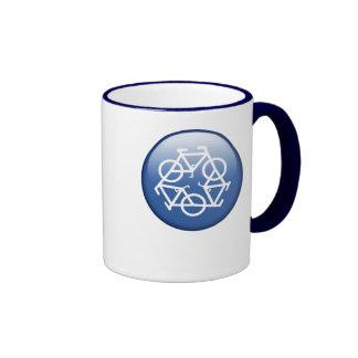 réutilisez la tasse en céramique de sonnerie bleue