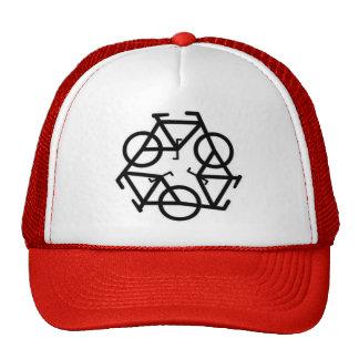 Réutilisez le symbole de logo de bicyclette casquette de camionneur