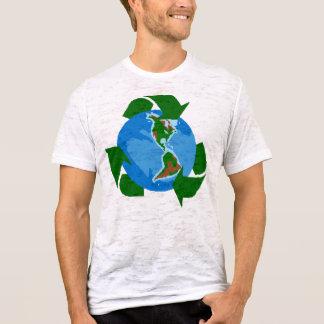 réutilisez les économies la terre t-shirt