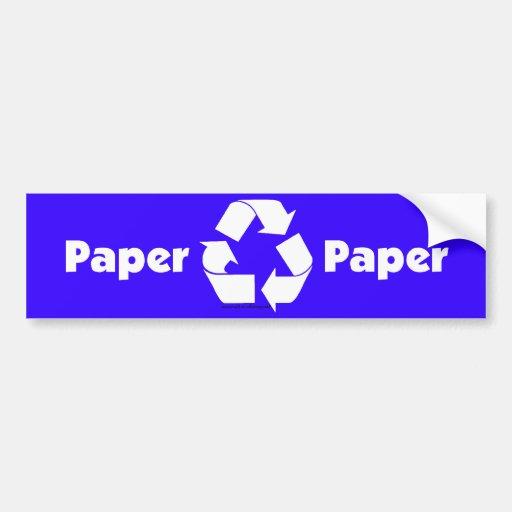 Réutilisez les étiquettes de poubelle pour le papi autocollant de voiture