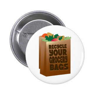 Réutilisez vos sacs d'épicerie badges avec agrafe