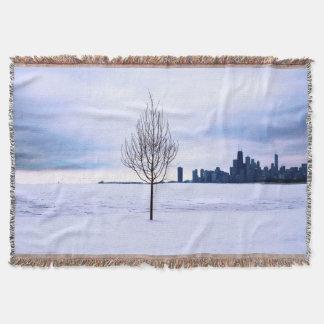 Rêve blanc - hiver Chicago, couverture de jet