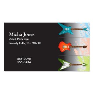 Rêve d'amants de guitare électrique carte de visite standard