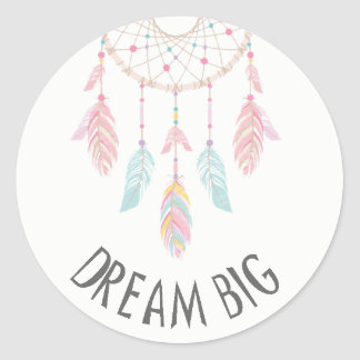 Rêve d'autocollant de baby shower de Dreamcatcher Sticker Rond
