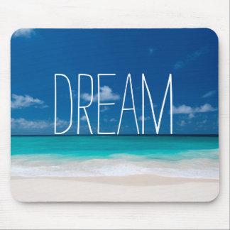 Rêve de Beachs blanc et de cieux bleus Tapis De Souris