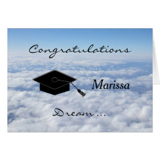 Rêve de carte de voeux d'obtention du diplôme