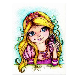 Rêve de conte de fées de Rapunzel Carte Postale