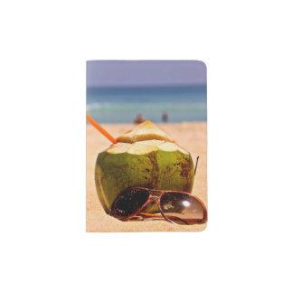 Rêve de noix de coco, support de passeport protège-passeport